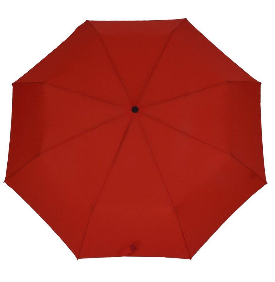 Doppler Regenschirm, Taschenschirm rot »Magic Carbonsteel« in rot
