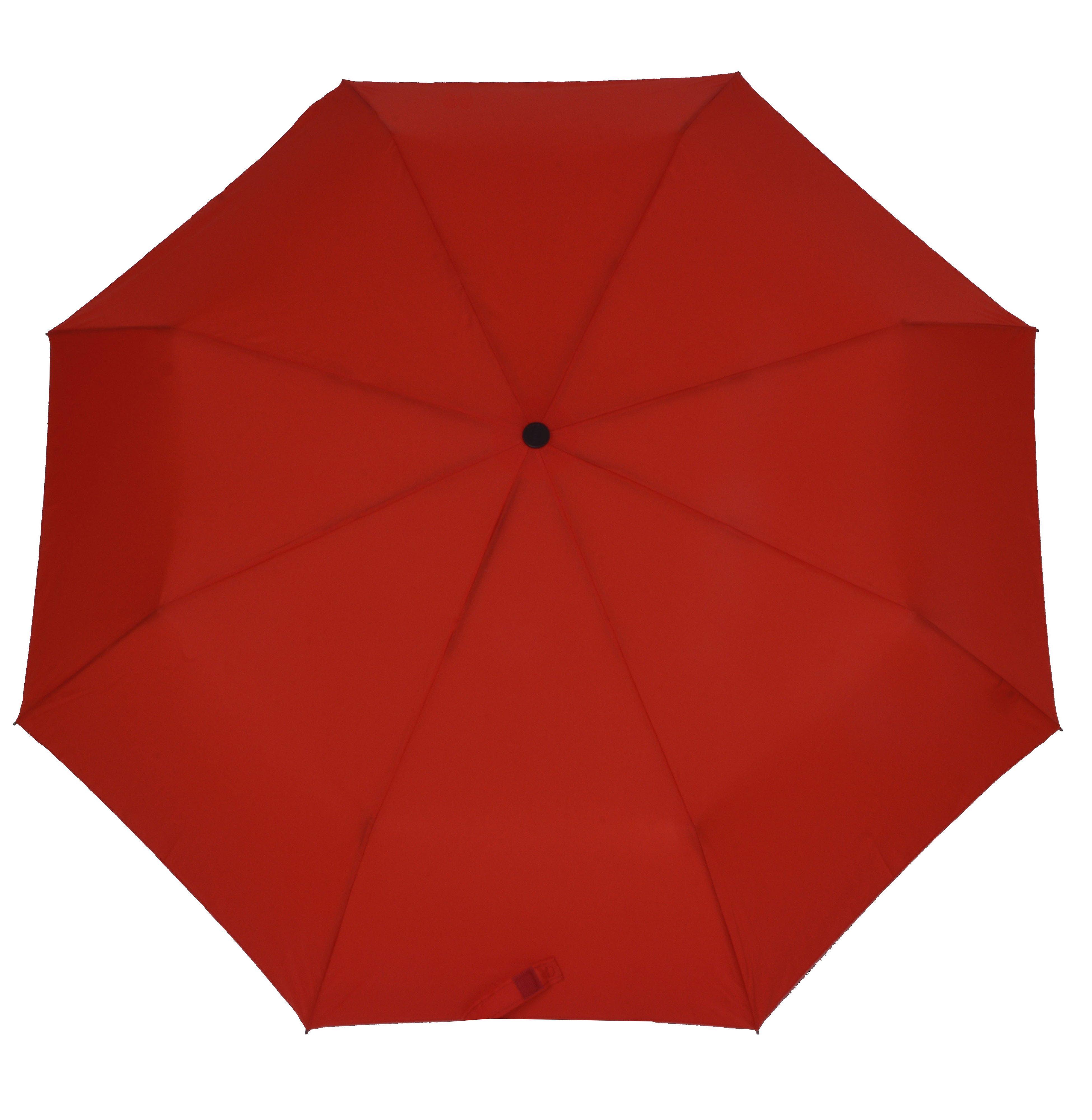 Doppler Regenschirm, Taschenschirm rot »Magic Carbonsteel«