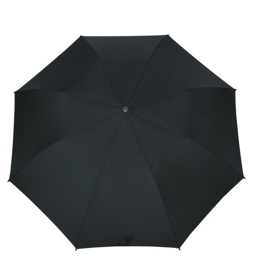 Doppler Regenschirm, »Taschenschirm Fiber« in schwarz
