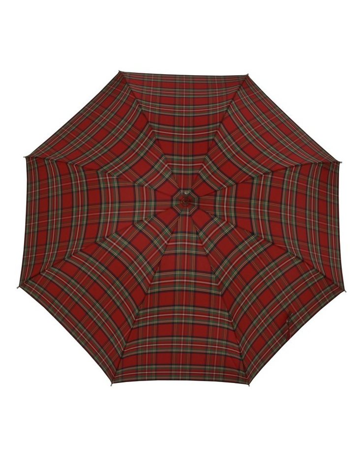 Doppler Regenschirm, Langschirm rot »Carbonsteel Karo« in rot