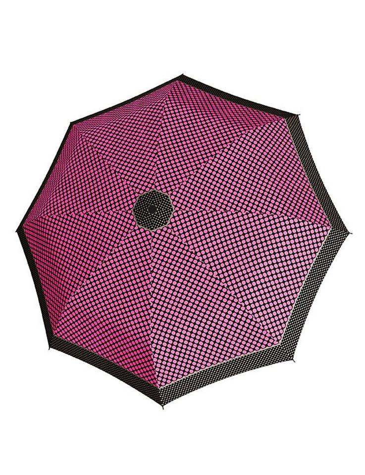 Doppler Regenschirm, Taschenschirm pink »Magic Carbonsteel Sparkling« in pink/schwarz