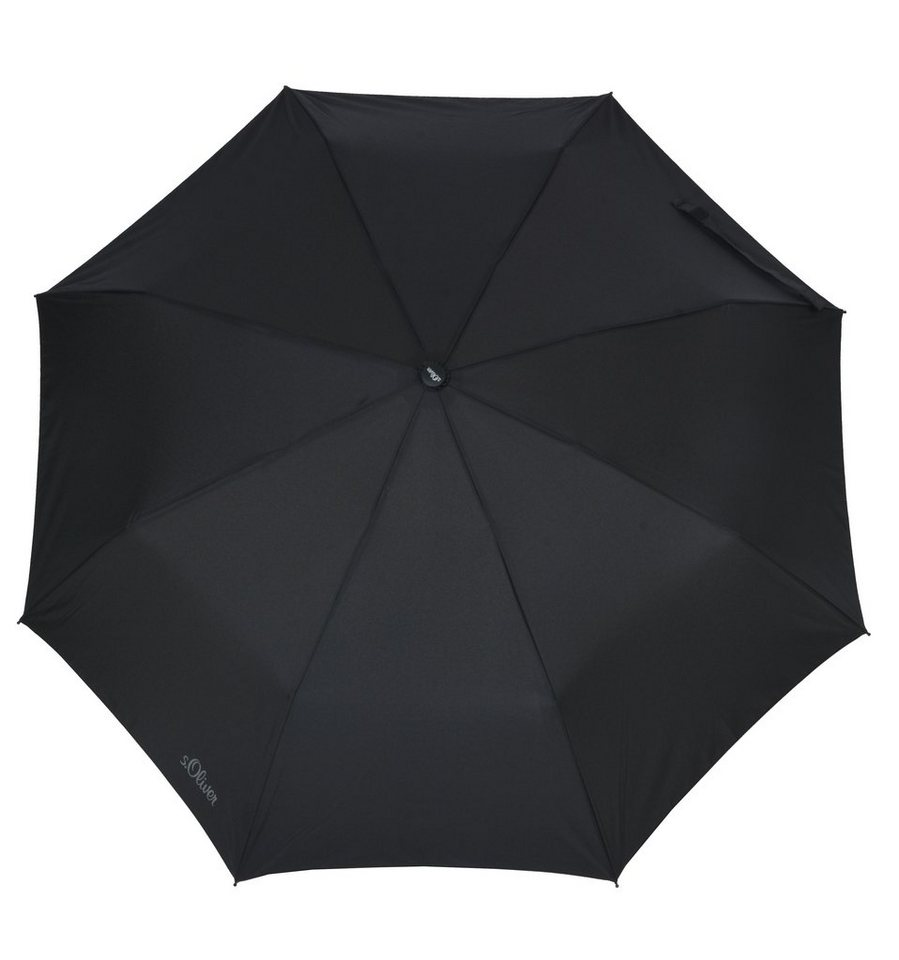s.Oliver Regenschirm, »Taschenschirm Fruit-Cocktail« in schwarz