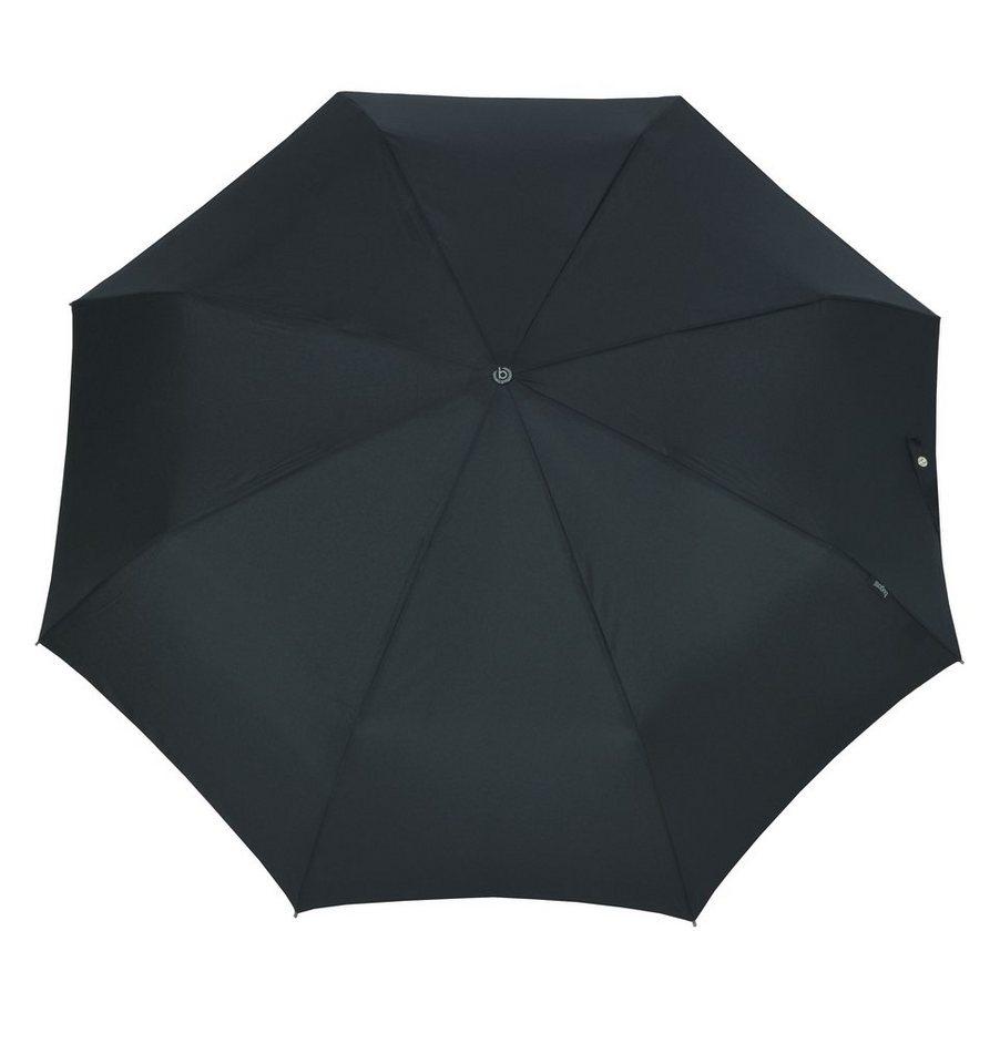 Bugatti Regenschirm, »Taschenschirm TURISMO FLAT« in schwarz