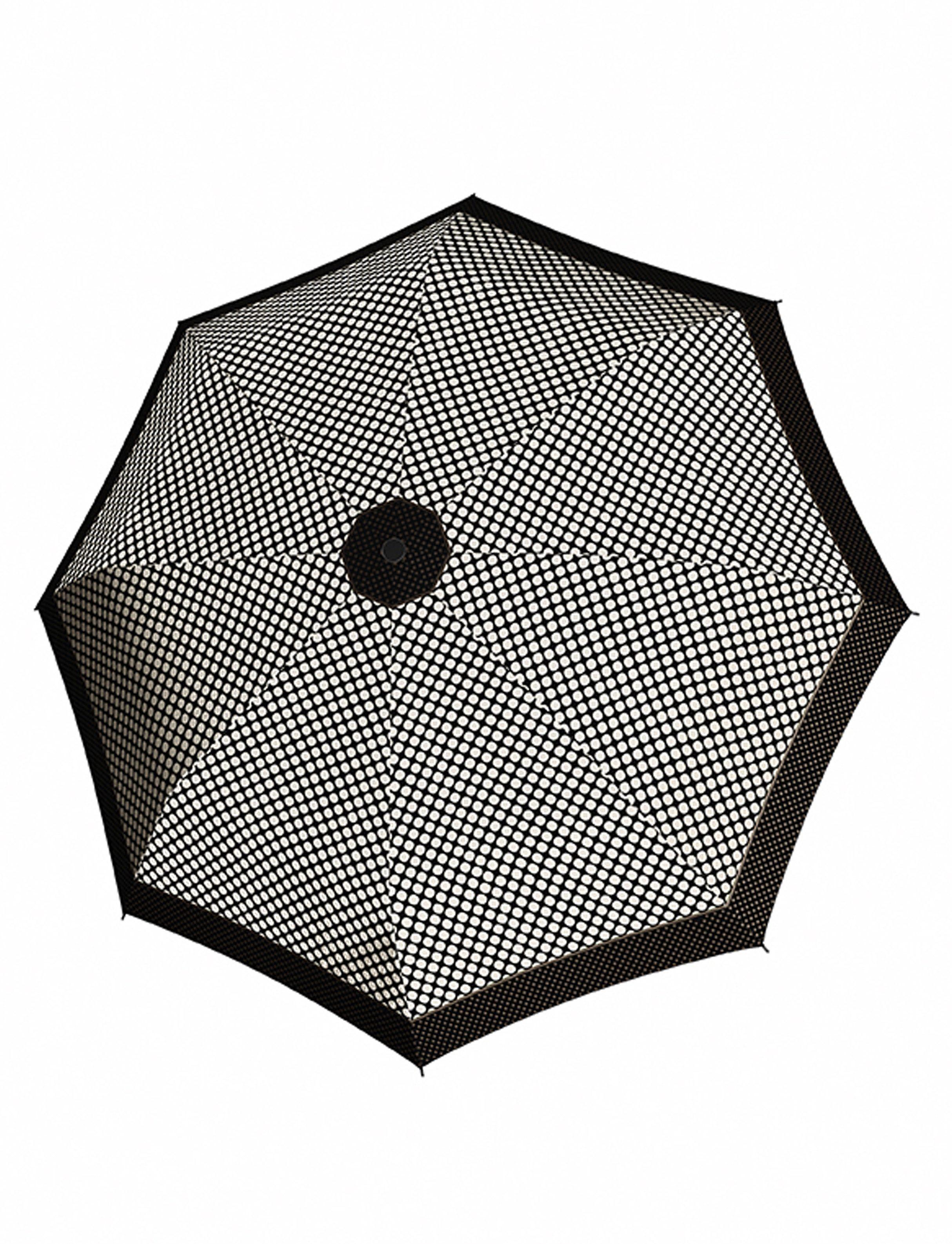 Doppler Regenschirm, Taschenschirm mit Pepitamuster »Magic Carbonsteel Sparkling«