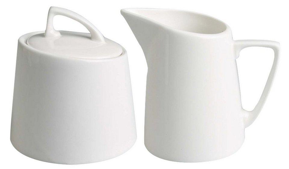 Flirt by Michael Fischer Kaffeegarnitur, Porzellan, »FAN-tastic« in weiß
