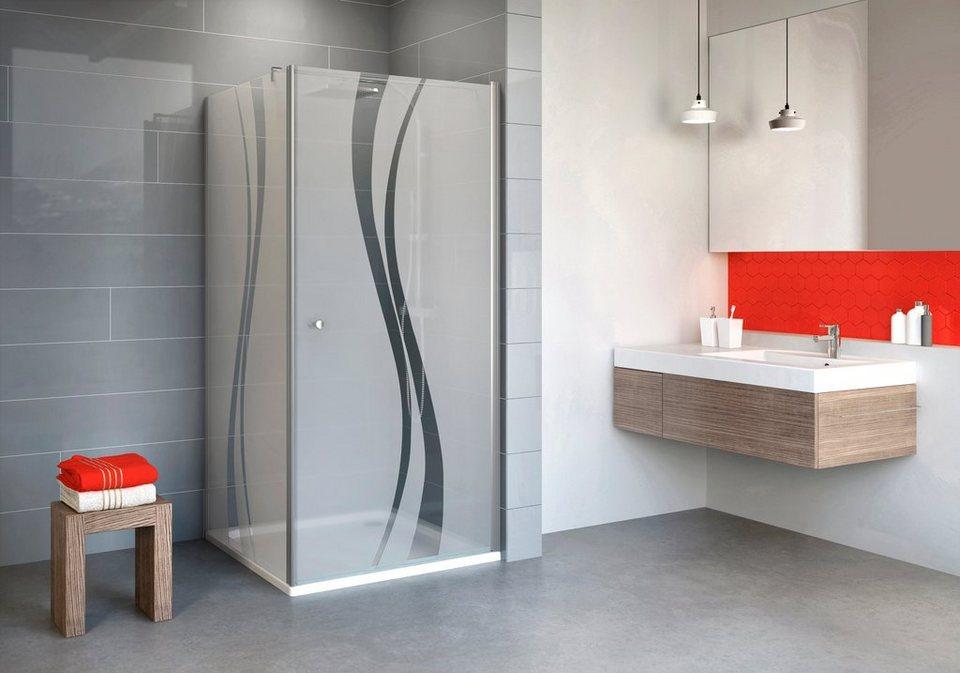 Eckdusche »Alexa Style 2.0«, 90 cm x 90 cm in alufarben