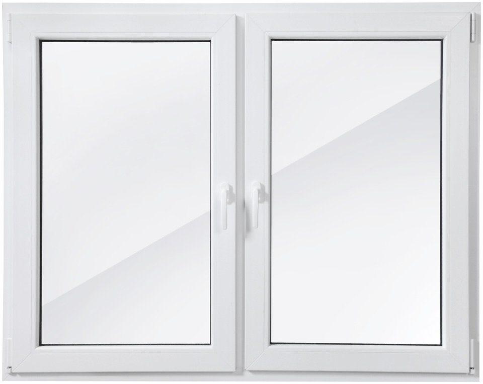 RORO Kunststoff-Fenster »Classic 420«, BxH: 150x120 cm, weiß, zweiflügelig