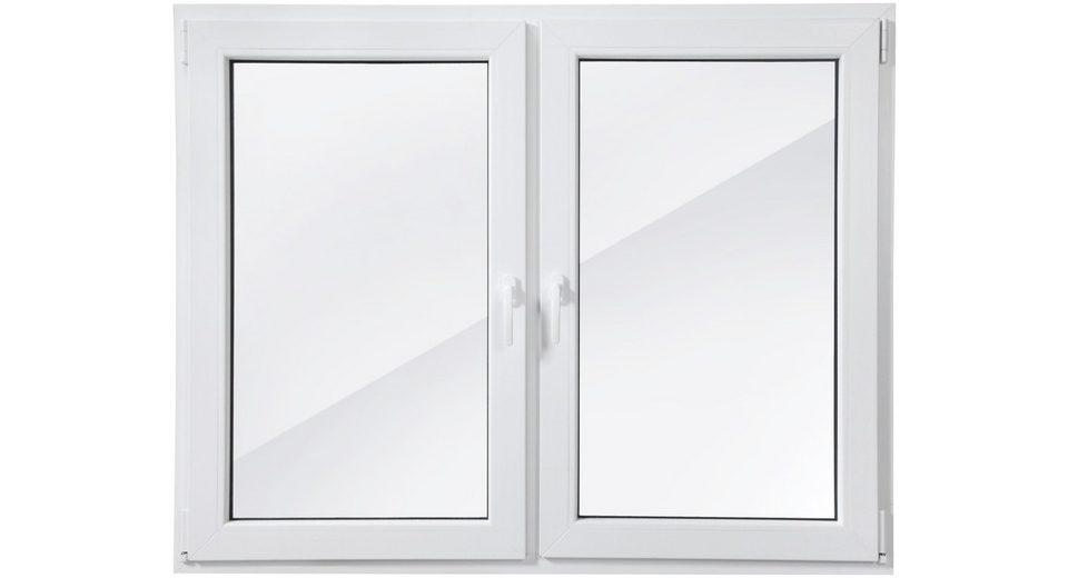 Kunststoff-Fenster Festmaß »BxH: 150 x 120 cm« zweiflügelig, weiß