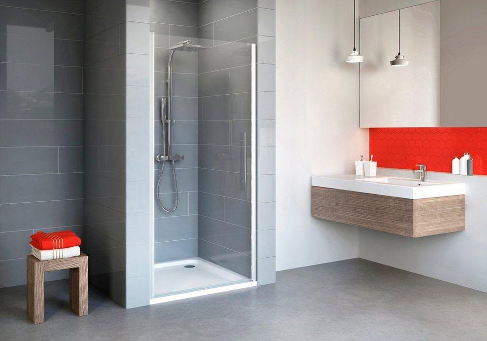 SCHULTE Nischentür »Alexa Style 2.0«, Duschtür mit Verstellbereich von 88-92 cm in alufarben