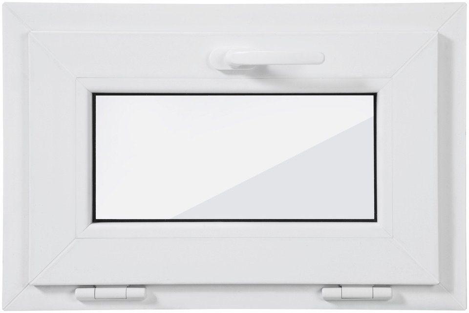 Roro Kunststoff-Fenster, BxH: 60x40 cm, weiß