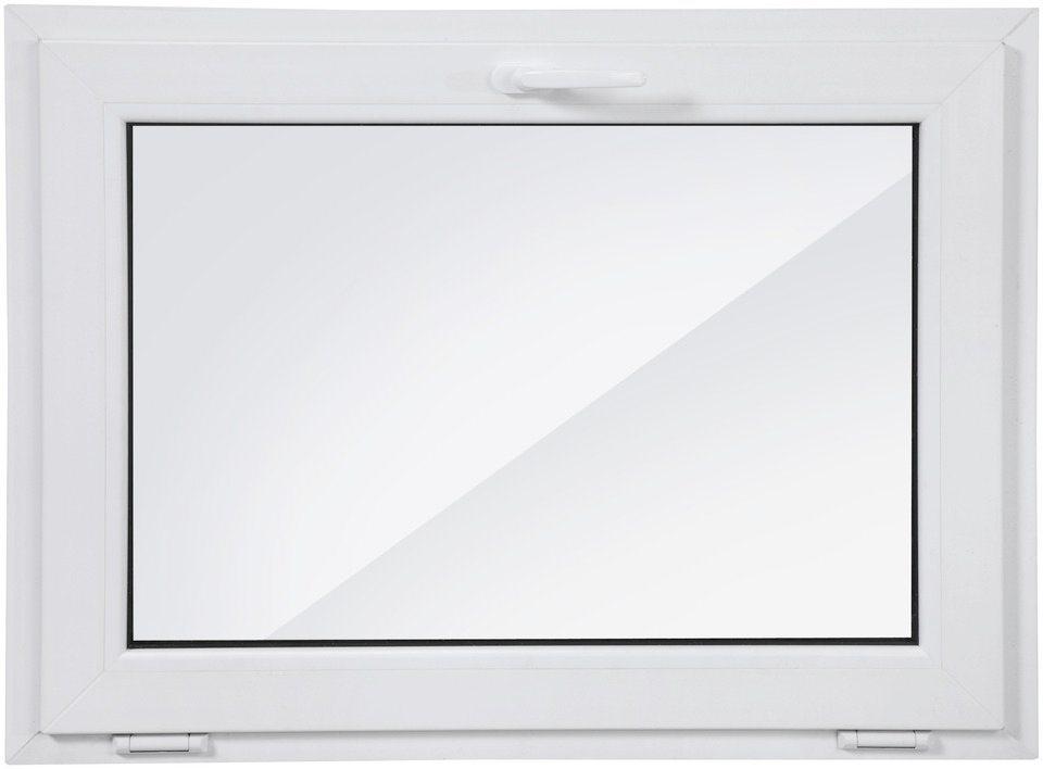Kunststoff-Fenster, BxH: 100x75 cm, weiß in weiß
