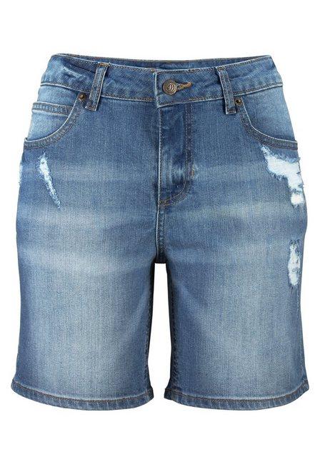 Hosen - Buffalo Jeansbermudas mit Destroyed Effekten ›  - Onlineshop OTTO
