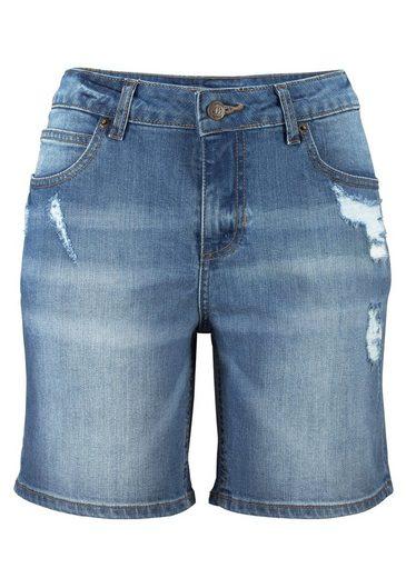 Buffalo Jeans-Bermudas mit Destroyed-Effekten