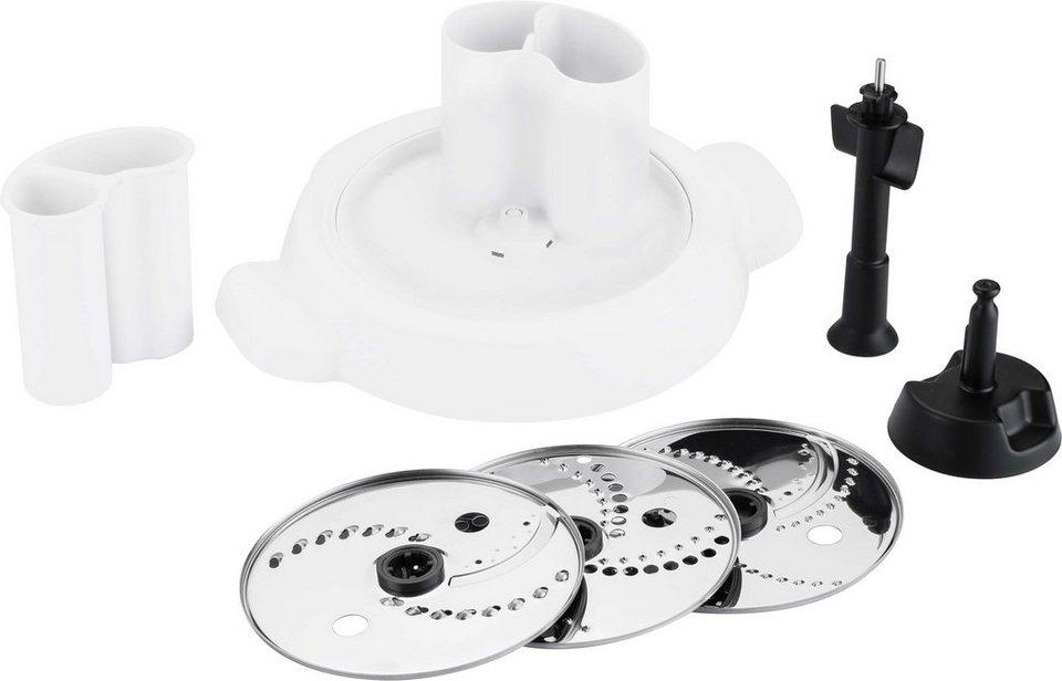 Krups Zubehör: Shred & Slice Schnitzelwerk für Küchenmaschine Prep & Cook HP5031 in Edelstahl-Weiß