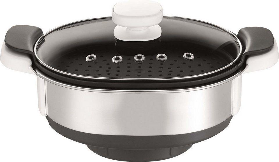 Krups Dampfgaraufsatz XF552D für Prep & Cook HP5031 in Edelstahl/Schwarz