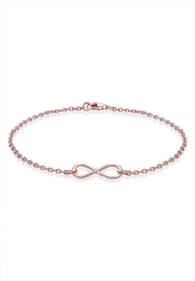 Elli Armband »Infinity Unendlichkeit 925 Silber rosé vergoldet« in Rosegold