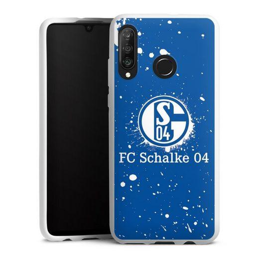 DeinDesign Handyhülle »Schalke 04 - Spraylogo« Huawei P30 Lite New Edition, Hülle FC Schalke 04 S04 Offizielles Lizenzprodukt