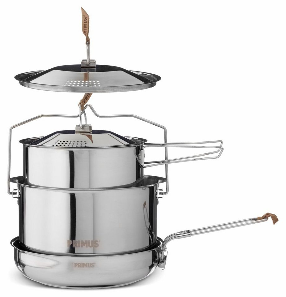 Primus Camping-Geschirr »CampFire Cookset Stainless Steel Large« in silber
