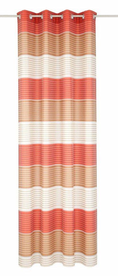 Vorhang, Deko Trends, »Easy«, mit Ösen (1 Stück) in beige/rot/braun