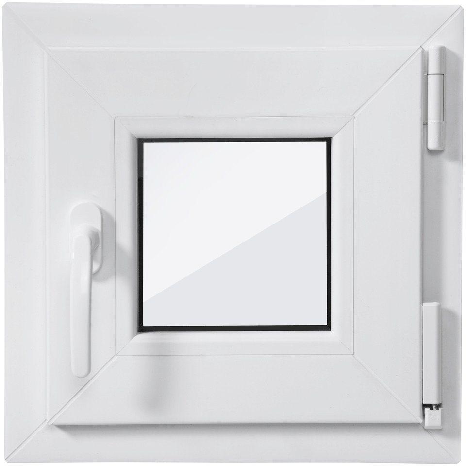 RORO Kunststoff-Fenster , BxH: 40x40 cm, weiß, in 2 Varianten in weiß