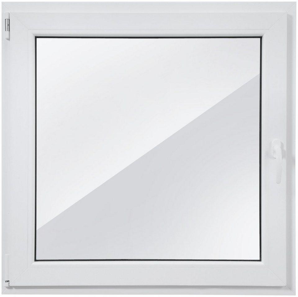 Kunststoff-Fenster, Festmaß »BxH: 100 x 100 cm« einflügelig, weiß in weiß