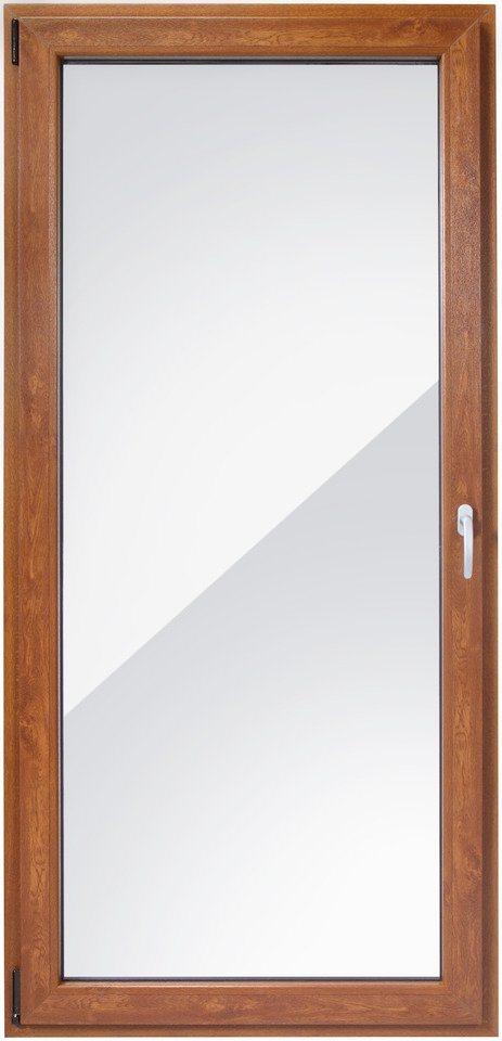 Balkontür, Festmaß »BxH: 100 x 210 cm« einflügelig, eichefarben-dunkel in eichefarben-dunkel