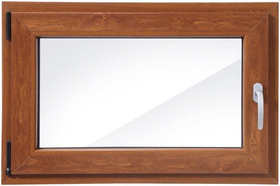 kunststoff fenster festma bxh 90 x 60 cm einfl gelig eichefarben dunkel online kaufen otto. Black Bedroom Furniture Sets. Home Design Ideas
