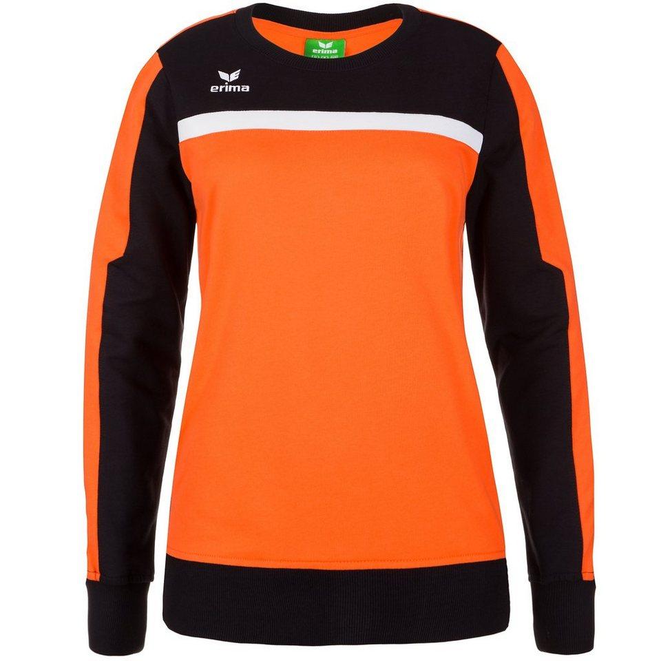 ERIMA 5-CUBES Sweatshirt Damen in orange/schwarz/weiß