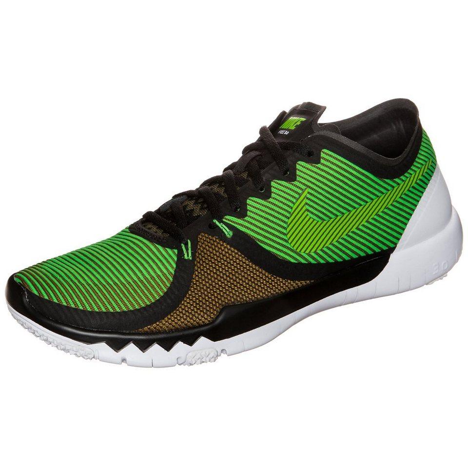 NIKE Free Trainer 3.0 V4 Trainingsschuh Herren in schwarz / grün
