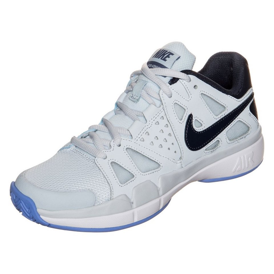 NIKE Air Vapor Advantage Tennisschuh Damen in hellgrau / blau