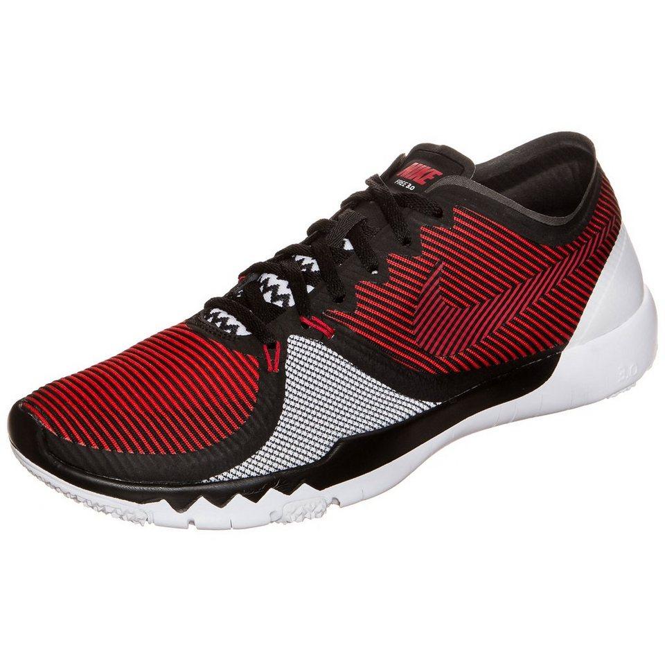 NIKE Free Trainer 3.0 V4 Trainingsschuh Herren in rot / schwarz / weiß