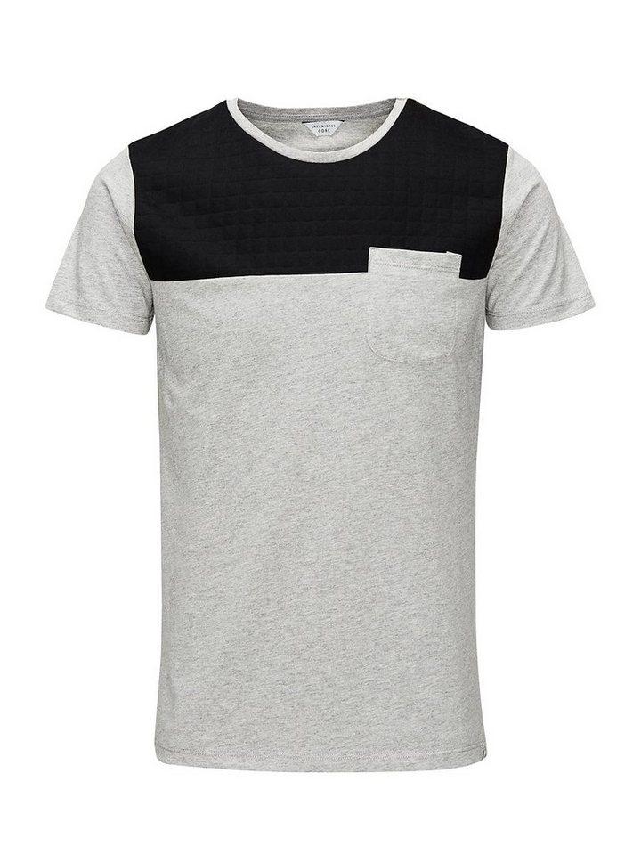 Jack & Jones Klassisches T-Shirt in Light Grey Melange