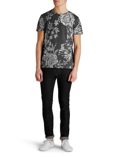 Jack & Jones Winterblumen-Print T-Shirt