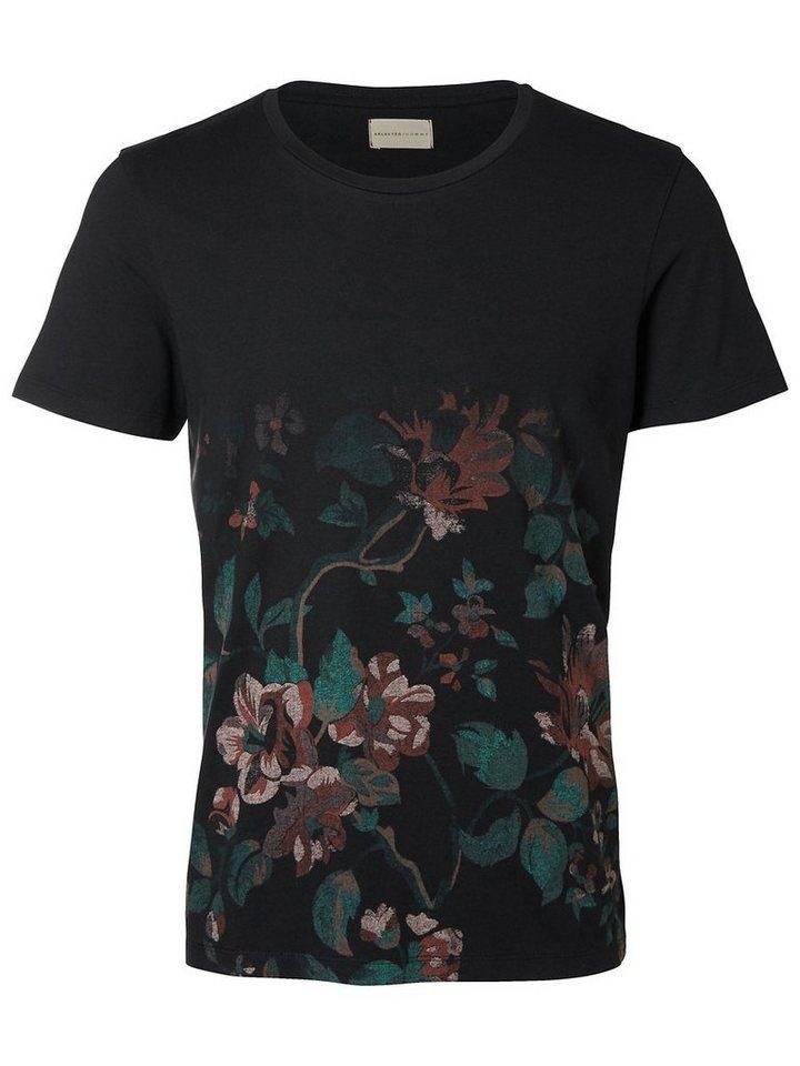 Selected Regular-Fit- T-Shirt in Black 1