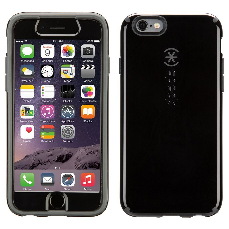 "Speck HardCase »CandyShell FacePlate iPhone (6) 4.7"" Black/Slate G« in schwarz"
