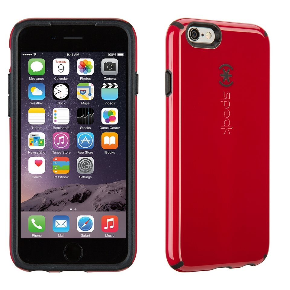 "Speck HardCase »CandyShell iPhone (6/6S) 4.7"" Pomodoro Red/Black« in rot"