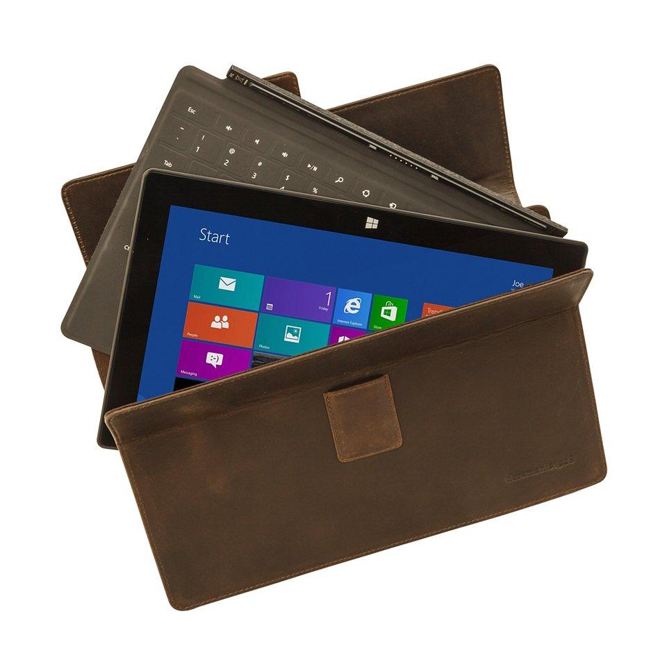 dbramante1928 LederCase »Hellerup Hunter Dark MS Surface Pro 3« in braun