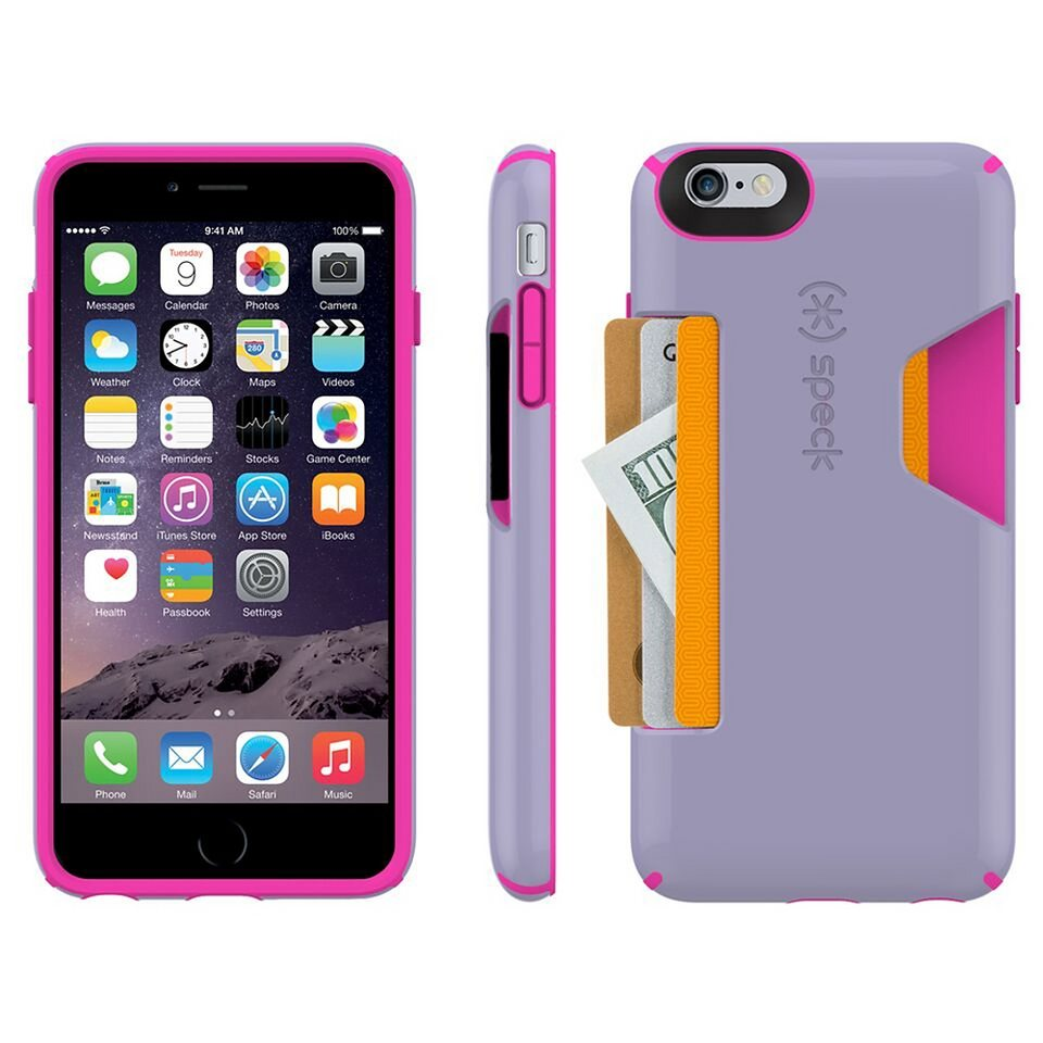 "Speck HardCase »CandyShell Card iPhone (6/6S) Plus 5.5"" Heather Pu« in pink"