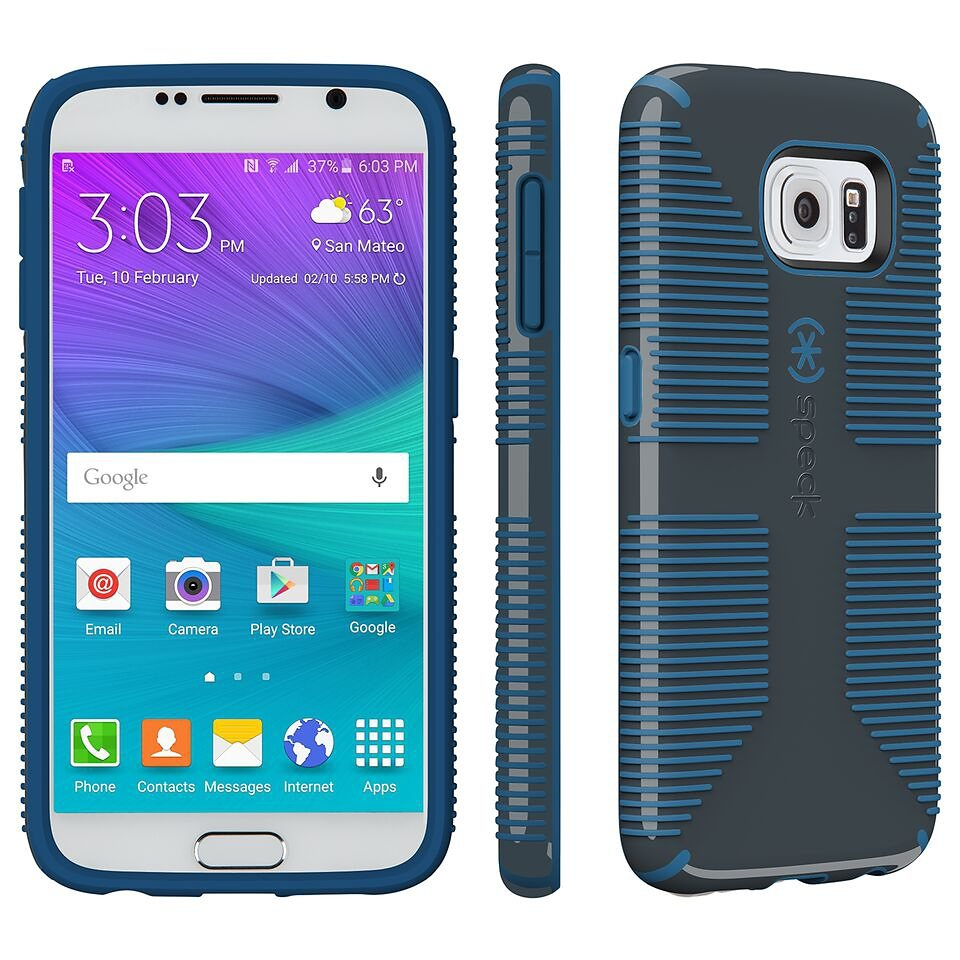 Speck HardCase »CandyShell Grip Samsung Galaxy S6 Charcoal Grey/Ha« in blau