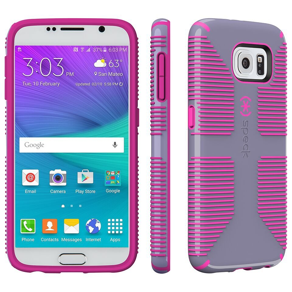Speck HardCase »CandyShell Grip Samsung Galaxy S6 Heather Purple/S« in pink