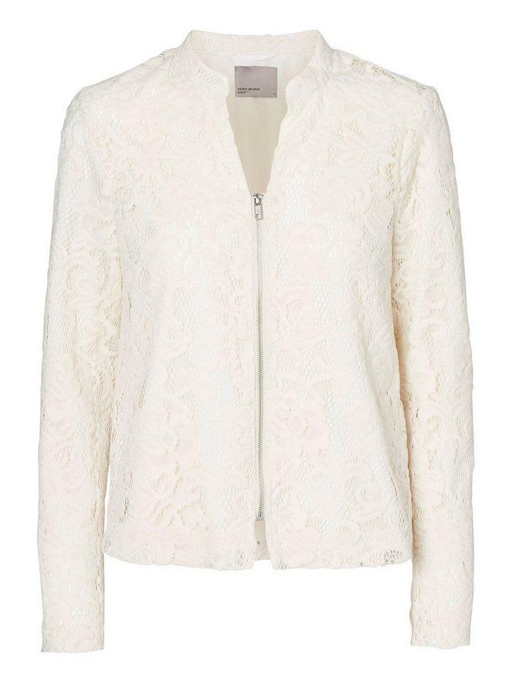 Vero Moda Mit Spitze besetzter Blazer in Antique White