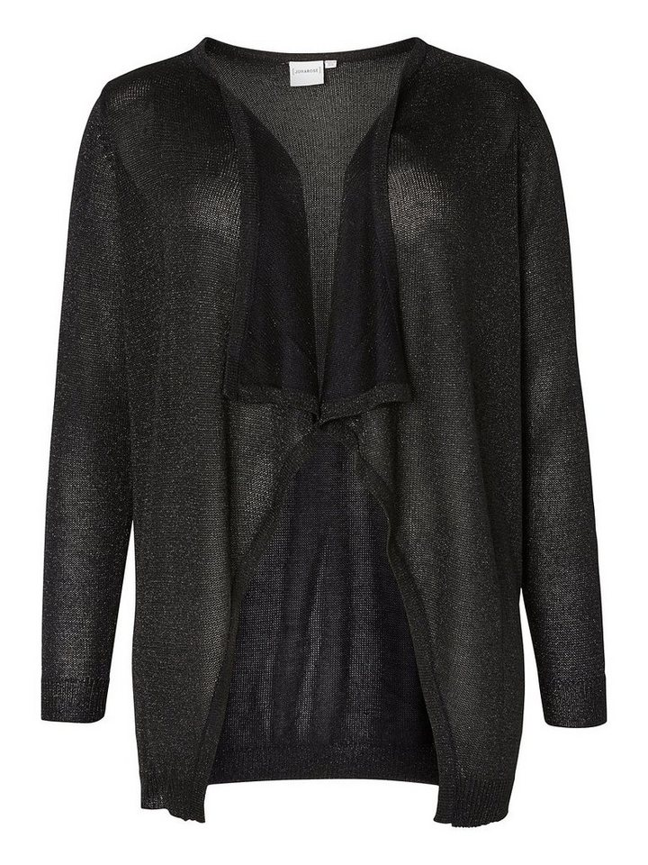 JUNAROSE Drapierte Strickjacke in Black