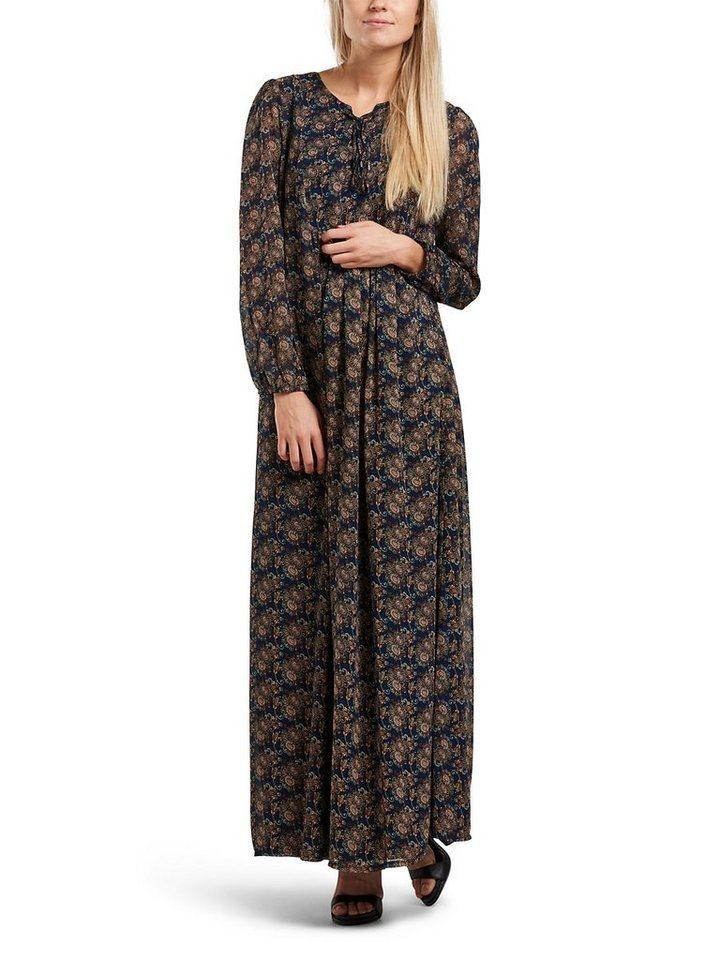 Only Spitzen- Kleid mit langen Ärmeln in Night Sky