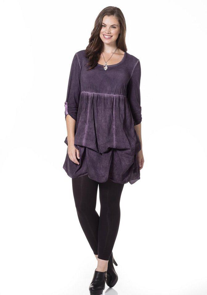sheego Style Longshirt in dunkellila