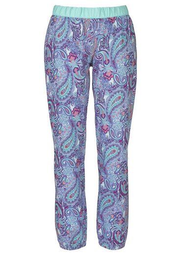 Buffalo Pyjama mit Paisleymuster & passendem Frontprint