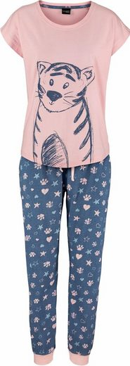 Vivance Dreams Pyjama mit Ringelschwanzprint auf der Rückseite