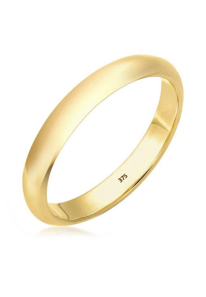 Elli Ring »Ehering Bandring Klassisch 375 Gelbgold« in Gold
