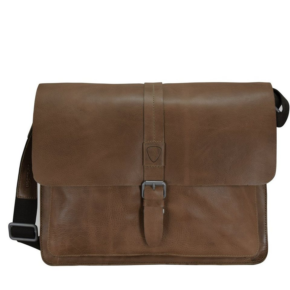 Strellson Blake Aktentasche Leder 38 cm Laptopfach in dark grey