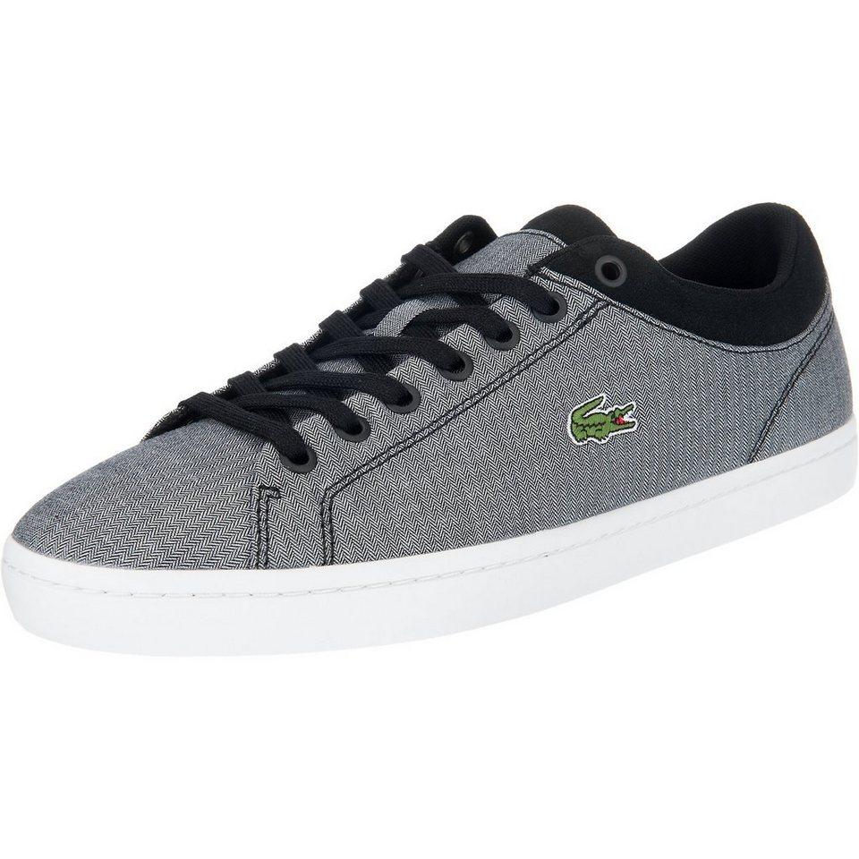LACOSTE Straightset Sneakers in schwarz-kombi