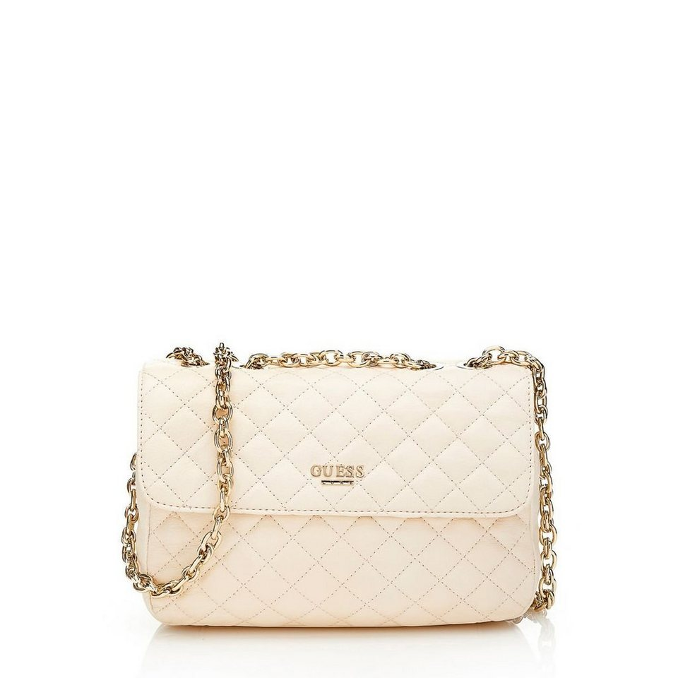 Guess Tasche »Suave Quilted Crossbody Flap« in Weiß